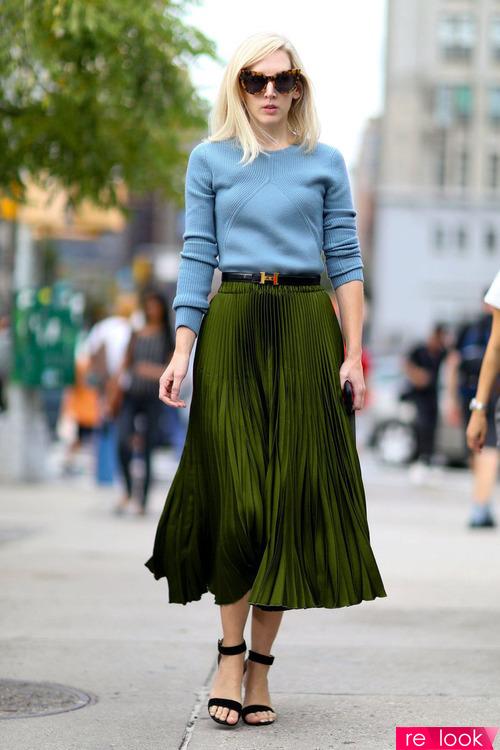 стильные образы с плиссированной юбкой
